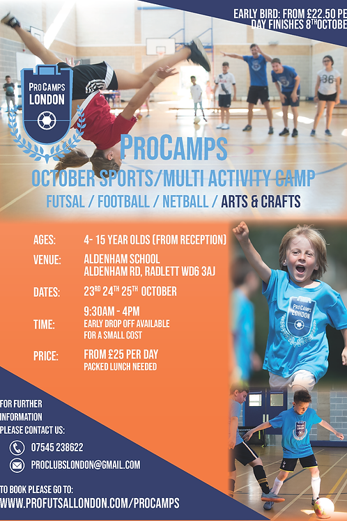 October Camp (Aldenham) - 3 DAYS