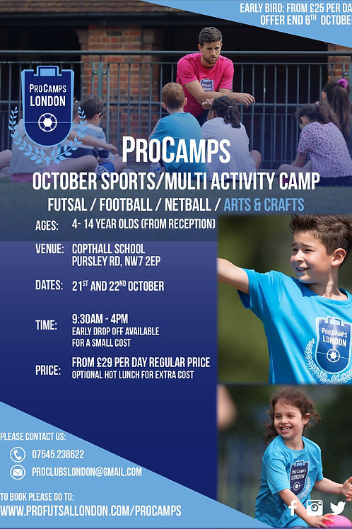 October Camp - 1 Day