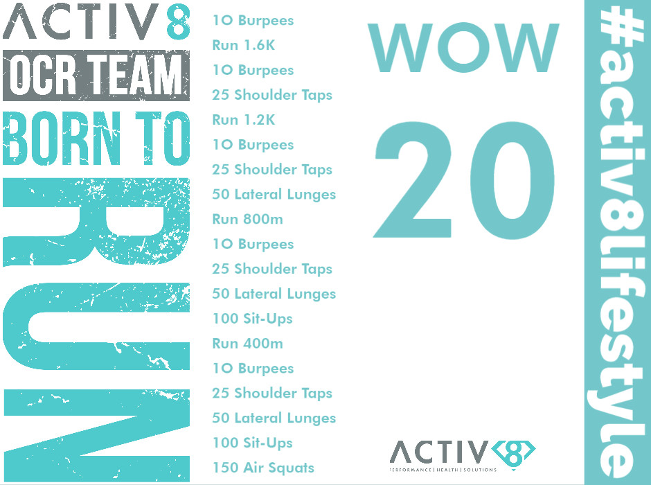 Trail running wow workout ocr wod 20