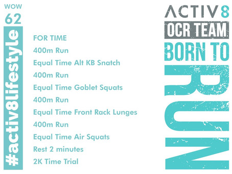 WOW 62 OCR, Trail running workout