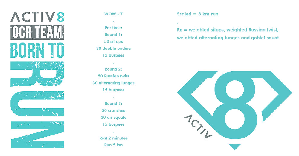 Trail running wow workout ocr wod 7