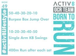 WOW 49 OCR, Trail running workout