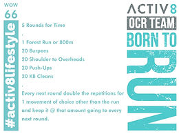 WOW 66 OCR, Trail running workout