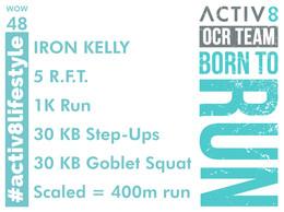 WOW 48 OCR, Trail running workout