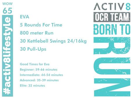 WOW 65 OCR, Trail running workout