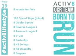 WOW 39 OCR, Trail running workout