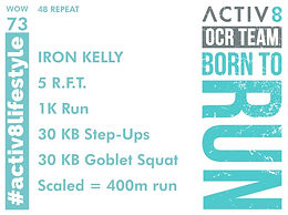 WOW 73 OCR, Trail running workout
