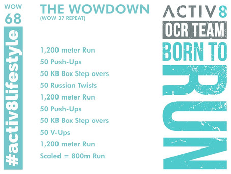 WOW 68 OCR, Trail running workout