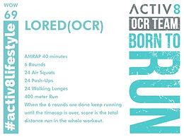 WOW 69 OCR, Trail running workout