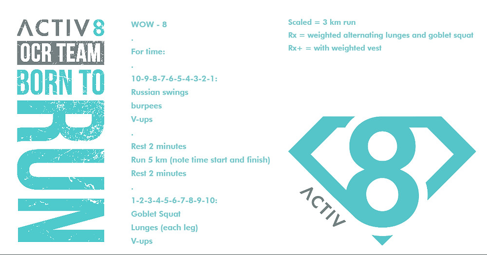 Trail running wow workout ocr wod 8