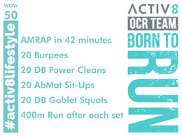 WOW 50 OCR, Trail running workout