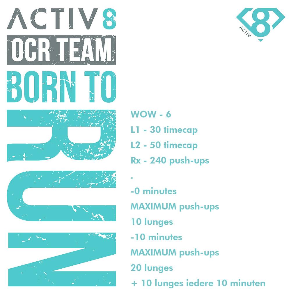 Trail running wow workout ocr wod 6
