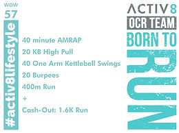 WOW 57 OCR, Trail running workout