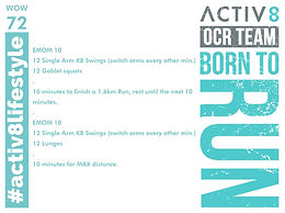 WOW 72 OCR, Trail running workout