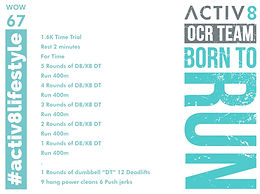 WOW 67 OCR, Trail running workout