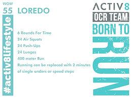 WOW 55 OCR, Trail running workout
