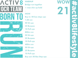 WOW 21 OCR, Trailrunning workout