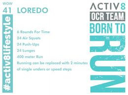 WOW 41 OCR, Trail running workout