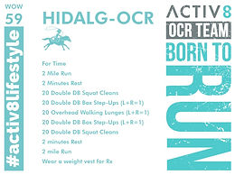 WOW 59 OCR, Trail running workout