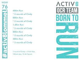 WOW 76 OCR, Trail running workout