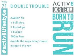 WOW 71 OCR, Trail running workout