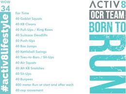 WOW 34 OCR, Trail running workout