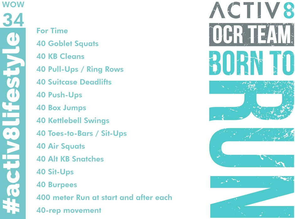 Trail running wow workout ocr wod  34