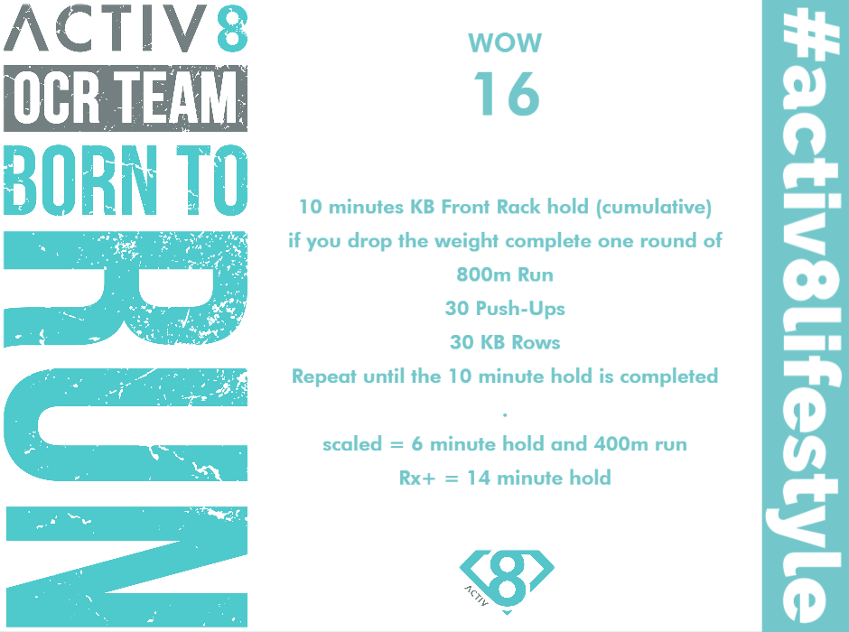 Trail running wow workout ocr wod 16