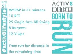 WOW 51 OCR, Trail running workout