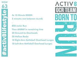 WOW 63 OCR, Trail running workout