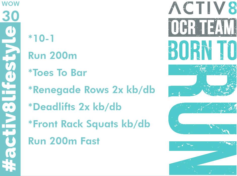 Trail running wow workout ocr wod 30