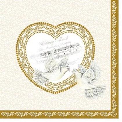 Serviettes papier mariage
