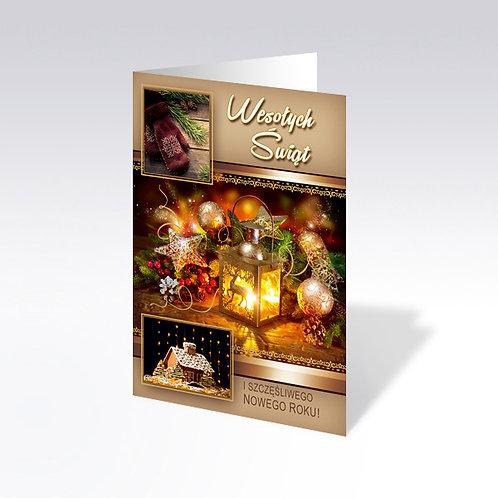 Carte postale de Noël avec pain azyme (Opłatek) - 6338