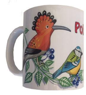 Mug polska décoration d'oiseaux