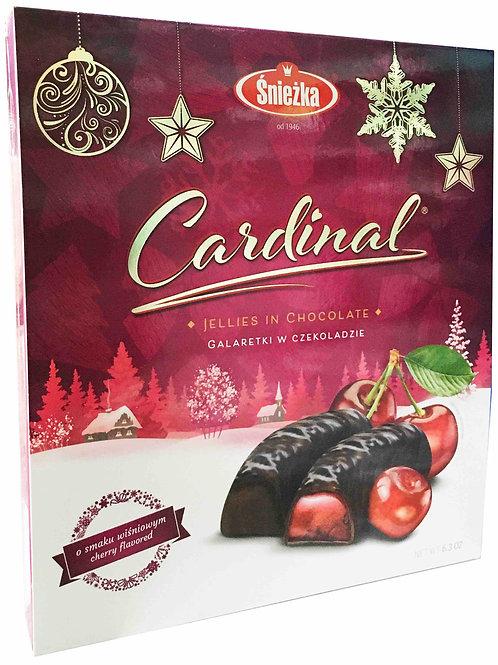Gelées au chocolat à la saveur de cerise.