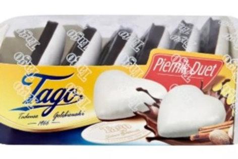Pain d'épices nappé de glaçage au sucre (20%) et de cacao(8%)