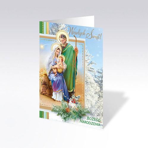 Carte postale de Noël avec pain azyme (Opłatek) - 6318