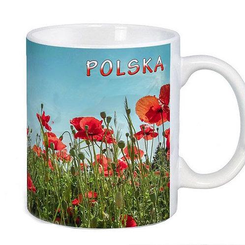 Mug décoré coquelicots (maki)
