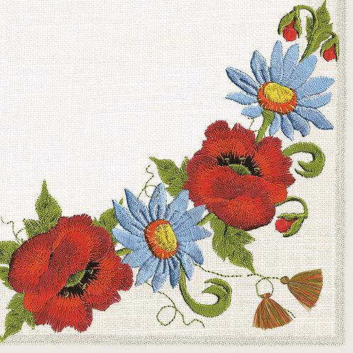 """Serviettes papier - folk """"fleurs de Łowicz"""""""