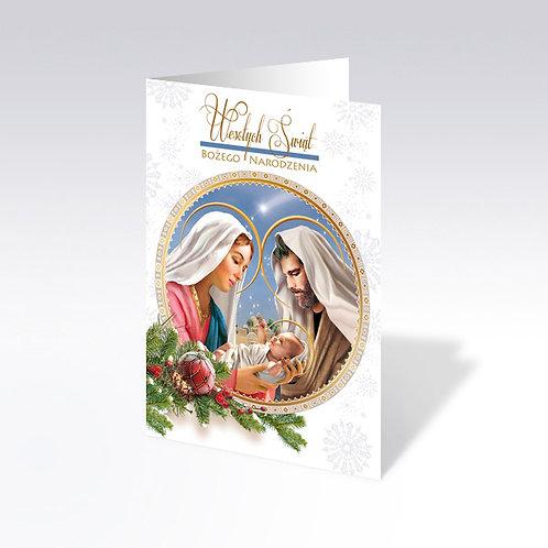 Carte postale de Noël avec pain azyme (Opłatek) - 6565