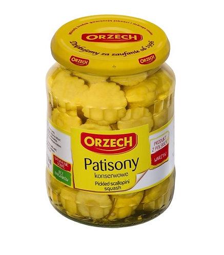 Petits pâtissons jaunes marinés ORZECH