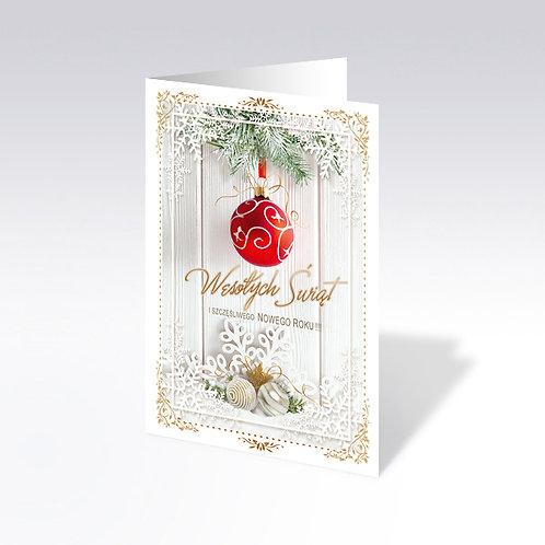 Carte postale de Noël avec pain azyme (Opłatek) - 6337