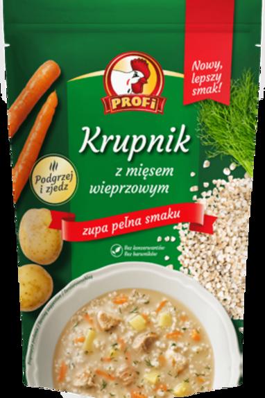 Soupe à l'orge perlée à la viande de porc - KRUPNIK (450 g)