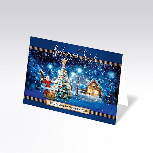 Carte postale de Noël avec pain azyme (Opłatek) - 6331