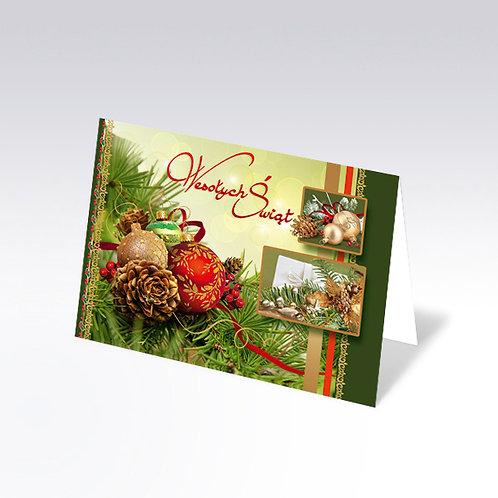 Carte postale de Noël avec pain azyme (Opłatek) - 6334