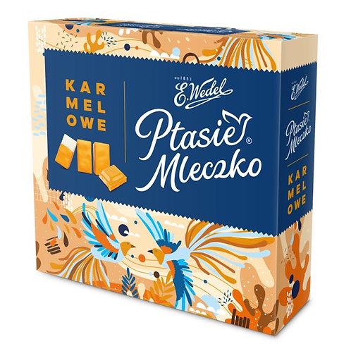 Mousse de lait au goût caramel enrobée de chocolat (Ptasie Mleczko)