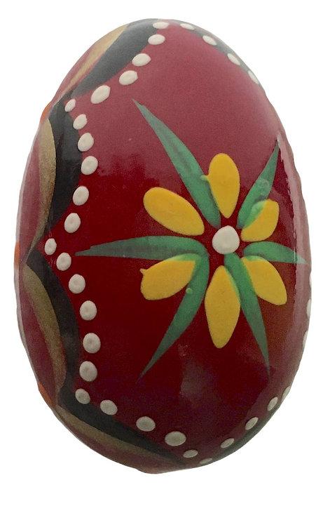Oeuf de Pâques en bois coloré (réf : oeuf-02)
