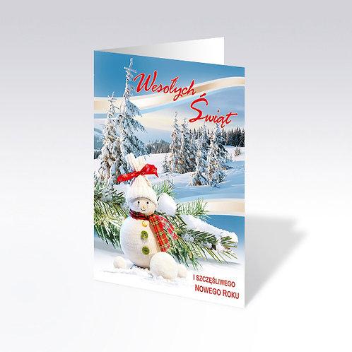 Carte postale de Noël avec pain azyme (Opłatek) - 5960