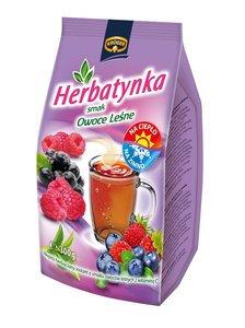 Thé instantané en granules, saveur fruits des bois.