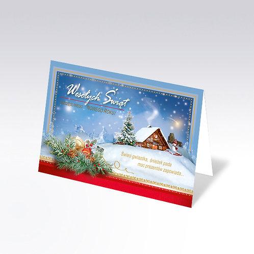 Carte postale de Noël avec pain azyme (Opłatek) - 6332